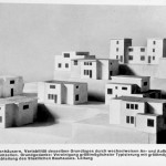 Models of pre-fab houses with honeycomb construction 1922/23; Modelle von Serienhäusern nach dem Wabenbau, 1922/23
